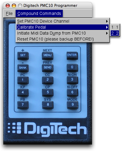 Controlling Digitech PMC 10 via the Parallel Port